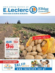 Gazetka promocyjna E.Leclerc, ważna od 25.09.2018 do 30.09.2018.