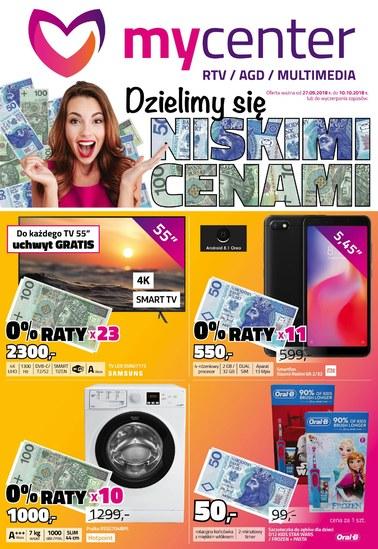 Gazetka promocyjna MyCenter, ważna od 27.09.2018 do 10.10.2018.