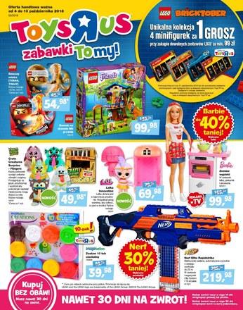 """Gazetka promocyjna Toys""""R""""Us, ważna od 04.10.2018 do 10.10.2018."""