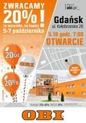 Gazetka promocyjna OBI - Otwarcie Gdańsk - ważna do 09-10-2018