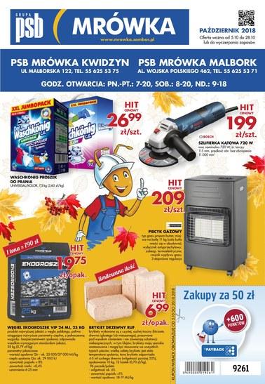 Gazetka promocyjna PSB Mrówka, ważna od 05.10.2018 do 28.10.2018.