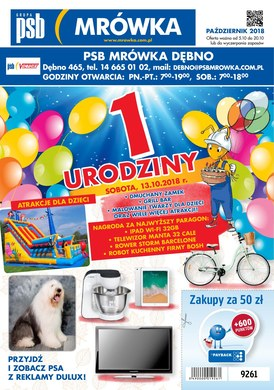 Gazetka promocyjna PSB Mrówka - 1 urodziny - Dębno
