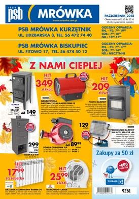 Gazetka promocyjna PSB Mrówka - Z nami cieplej - Kurzętnik, Biskupiec