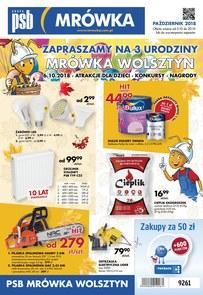 Gazetka promocyjna PSB Mrówka, ważna od 05.10.2018 do 20.10.2018.