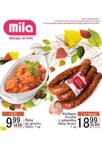 Gazetka promocyjna MILA, ważna od 09.10.2018 do 22.10.2018.