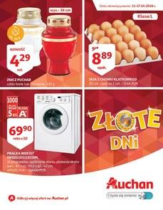 Gazetka promocyjna Auchan, ważna od 11.10.2018 do 17.10.2018.