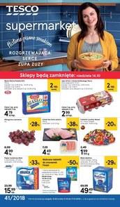 Gazetka promocyjna Tesco Supermarket, ważna od 11.10.2018 do 17.10.2018.