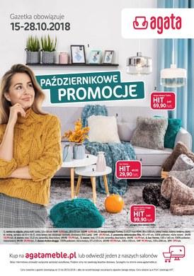 Gazetka promocyjna Agata  - Październikowe promocje  - ważna od 15-10-2018