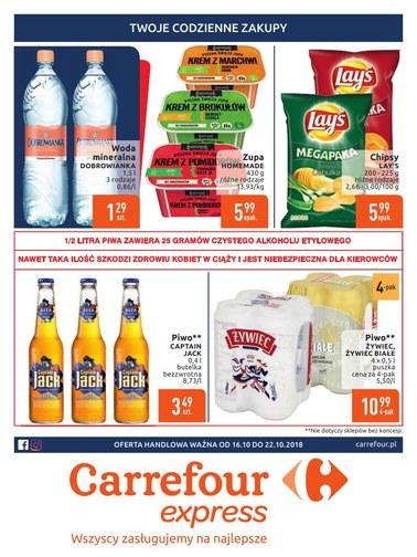 Gazetka promocyjna Carrefour Express, ważna od 16.10.2018 do 22.10.2018.