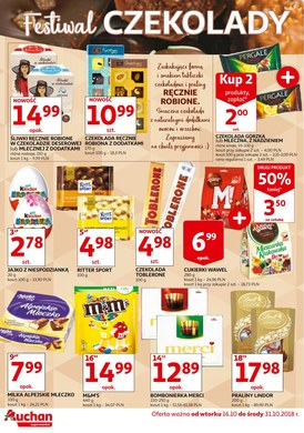 Gazetka promocyjna Auchan - Festiwal czekolady
