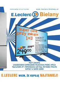 Gazetka promocyjna E.Leclerc, ważna od 16.10.2018 do 27.10.2018.