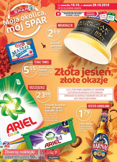 Gazetka promocyjna SPAR, ważna od 18.10.2018 do 28.10.2018.