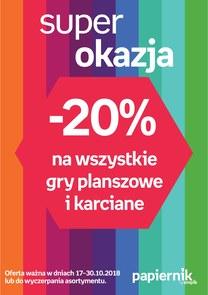 Gazetka promocyjna Papiernik by Empik, ważna od 17.10.2018 do 30.10.2018.