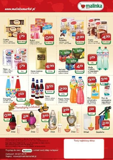 Gazetka promocyjna MALINKA Market, ważna od 18.10.2018 do 31.10.2018.