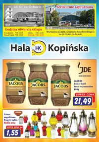 Gazetka promocyjna Hala Kopińska - Gazetka promocyjna  - ważna do 09-11-2018
