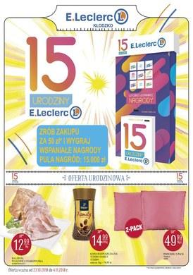 Gazetka promocyjna E.Leclerc - 15 urodziny - Kłodzko