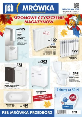 Gazetka promocyjna PSB Mrówka - Sezonowe czyszczenie magazynów - Przedbórz