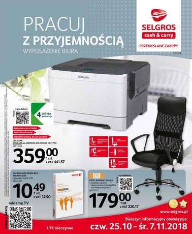 Gazetka promocyjna Selgros Cash&Carry, ważna od 25.10.2018 do 07.11.2018.