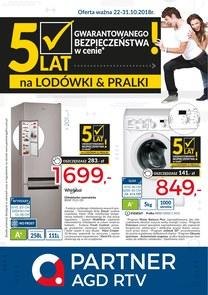 Gazetka promocyjna Partner AGD RTV , ważna od 22.10.2018 do 31.10.2018.