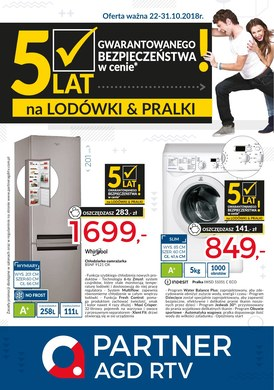 Gazetka promocyjna Partner AGD RTV  - Gazetka promocyjna