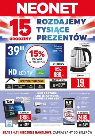 Gazetka promocyjna Neonet, ważna od 25.10.2018 do 07.11.2018.