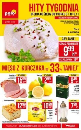 Gazetka promocyjna POLOmarket, ważna od 31.10.2018 do 06.11.2018.