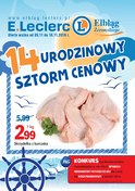 Gazetka promocyjna E.Leclerc - 14 urodzinowy sztorm cenowy - ważna do 10-11-2018