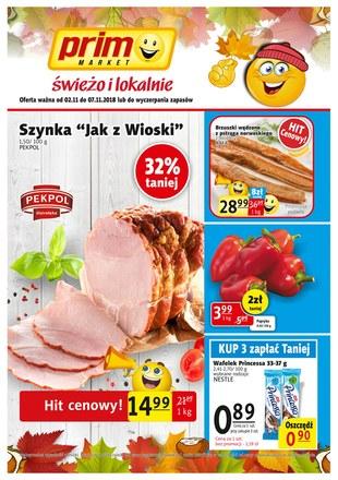 Gazetka promocyjna Prim Market, ważna od 02.11.2018 do 07.11.2018.