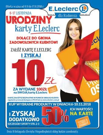 Gazetka promocyjna E.Leclerc, ważna od 06.11.2018 do 17.11.2018.