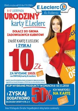 Gazetka promocyjna E.Leclerc - Urodziny karty E.leclerc - Radom