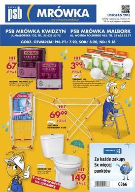 Gazetka promocyjna PSB Mrówka - Gazetka promocyjna Kwidzyn, Malbork