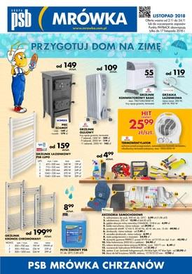 Gazetka promocyjna PSB Mrówka - Przygotuj dom na zimę - Chrzanów