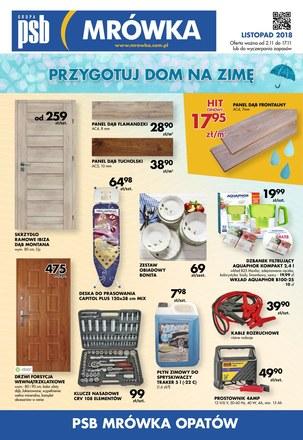 Gazetka promocyjna PSB Mrówka, ważna od 02.11.2018 do 17.11.2018.