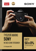 Gazetka promocyjna Fotojoker - Tydzień marki Sony - ważna do 11-11-2018