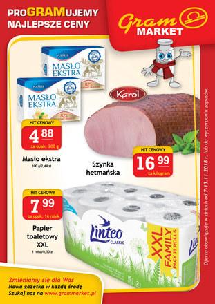 Gazetka promocyjna Gram Market, ważna od 07.11.2018 do 13.11.2018.
