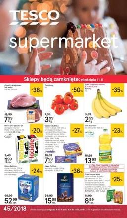 Gazetka promocyjna Tesco Supermarket, ważna od 08.11.2018 do 14.11.2018.