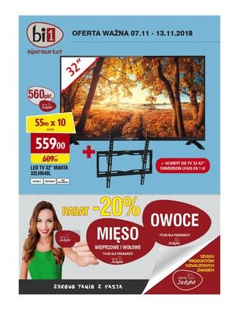 Gazetka promocyjna bi1, ważna od 07.11.2018 do 13.11.2018.