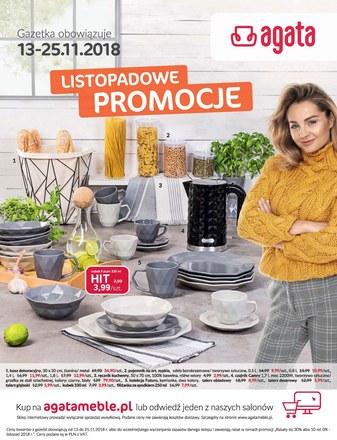 Gazetka promocyjna Agata , ważna od 13.11.2018 do 25.11.2018.