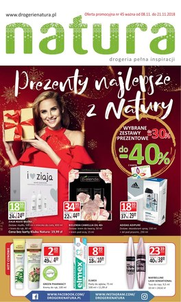 Gazetka promocyjna Drogerie Natura, ważna od 08.11.2018 do 21.11.2018.