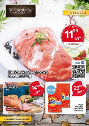 Gazetka promocyjna Spiżarnia Smakosza, ważna od 08.11.2018 do 14.11.2018.