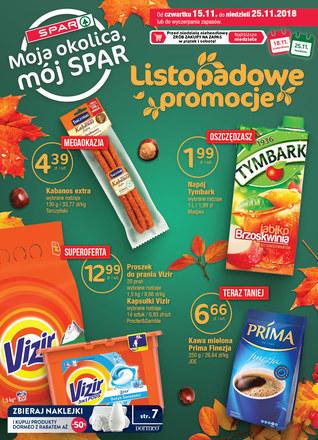 Gazetka promocyjna SPAR, ważna od 15.11.2018 do 25.11.2018.