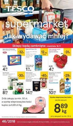 Gazetka promocyjna Tesco Supermarket, ważna od 15.11.2018 do 21.11.2018.
