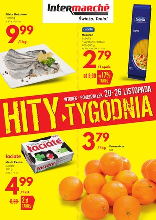 Gazetka promocyjna Intermarche Super, ważna od 20.11.2018 do 26.11.2018.