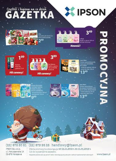 Gazetka promocyjna Ipson, ważna od 01.11.2018 do 31.12.2018.