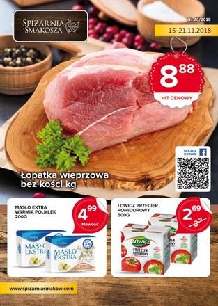 Gazetka promocyjna Spiżarnia Smakosza, ważna od 15.11.2018 do 21.11.2018.