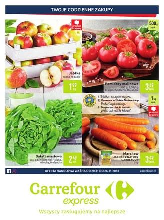 Gazetka promocyjna Carrefour Express, ważna od 20.11.2018 do 26.11.2018.