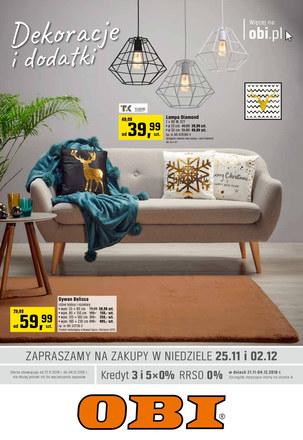 Gazetka promocyjna OBI, ważna od 21.11.2018 do 04.12.2018.