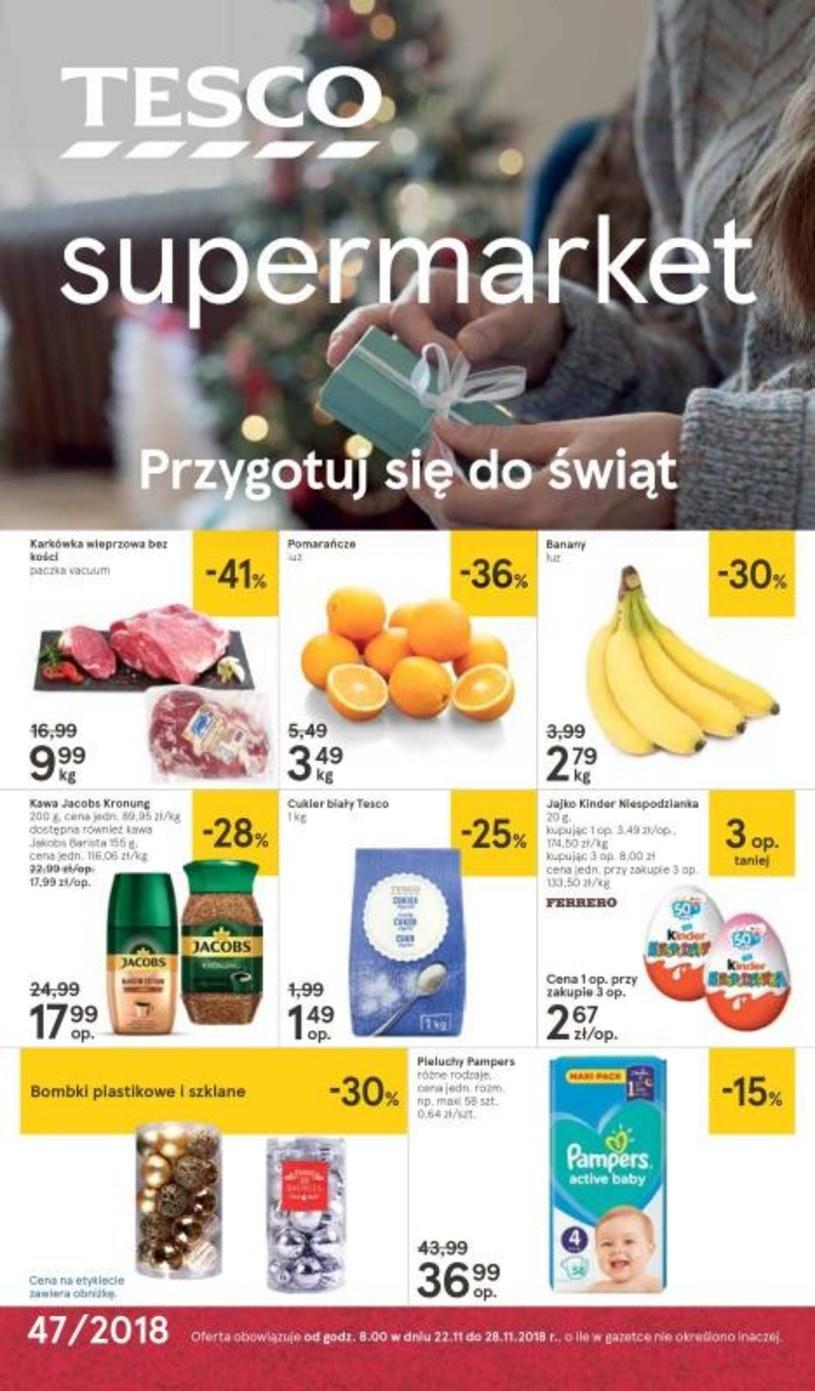 Gazetka promocyjna Tesco Supermarket - wygasła 14 dni temu