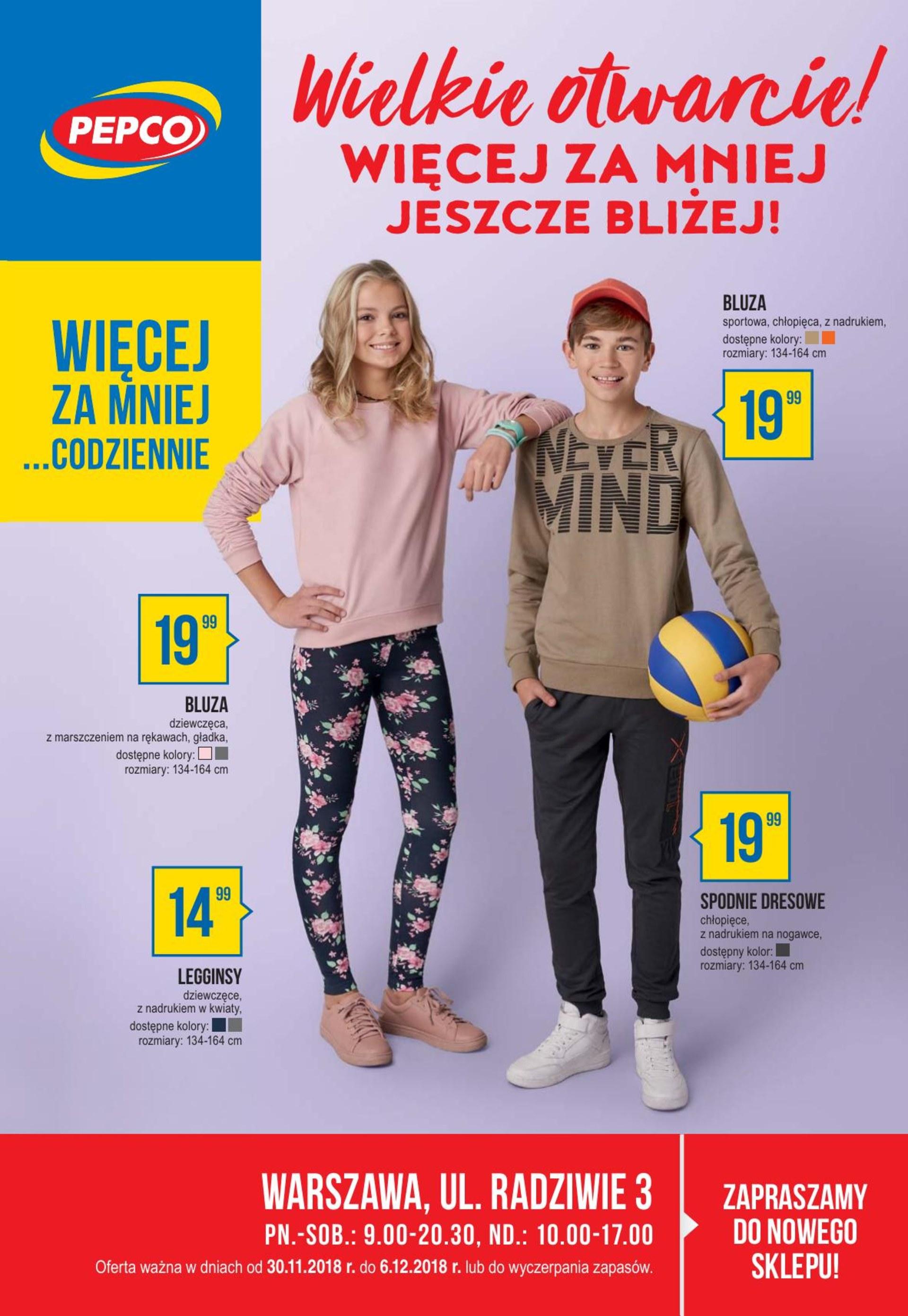 396b495b137442 Gazetka Brak danych - gazetka-promocyjna-pepco-30-11-2018,