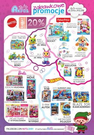 Gazetka promocyjna Akpol Baby, ważna od 23.11.2018 do 24.12.2018.